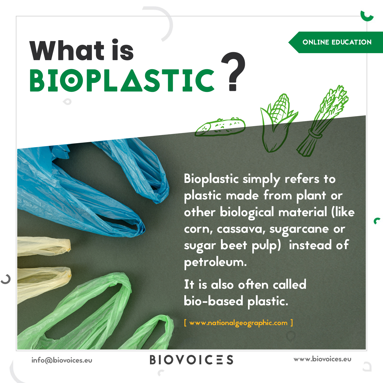 What is bioplastic?