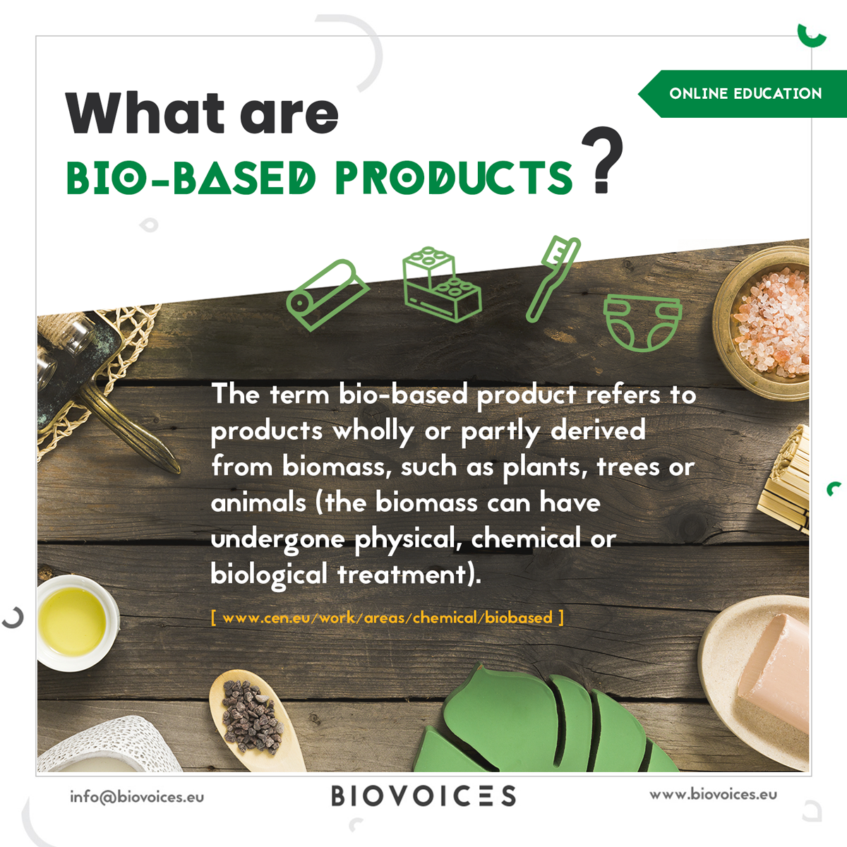 What are bio-based products?