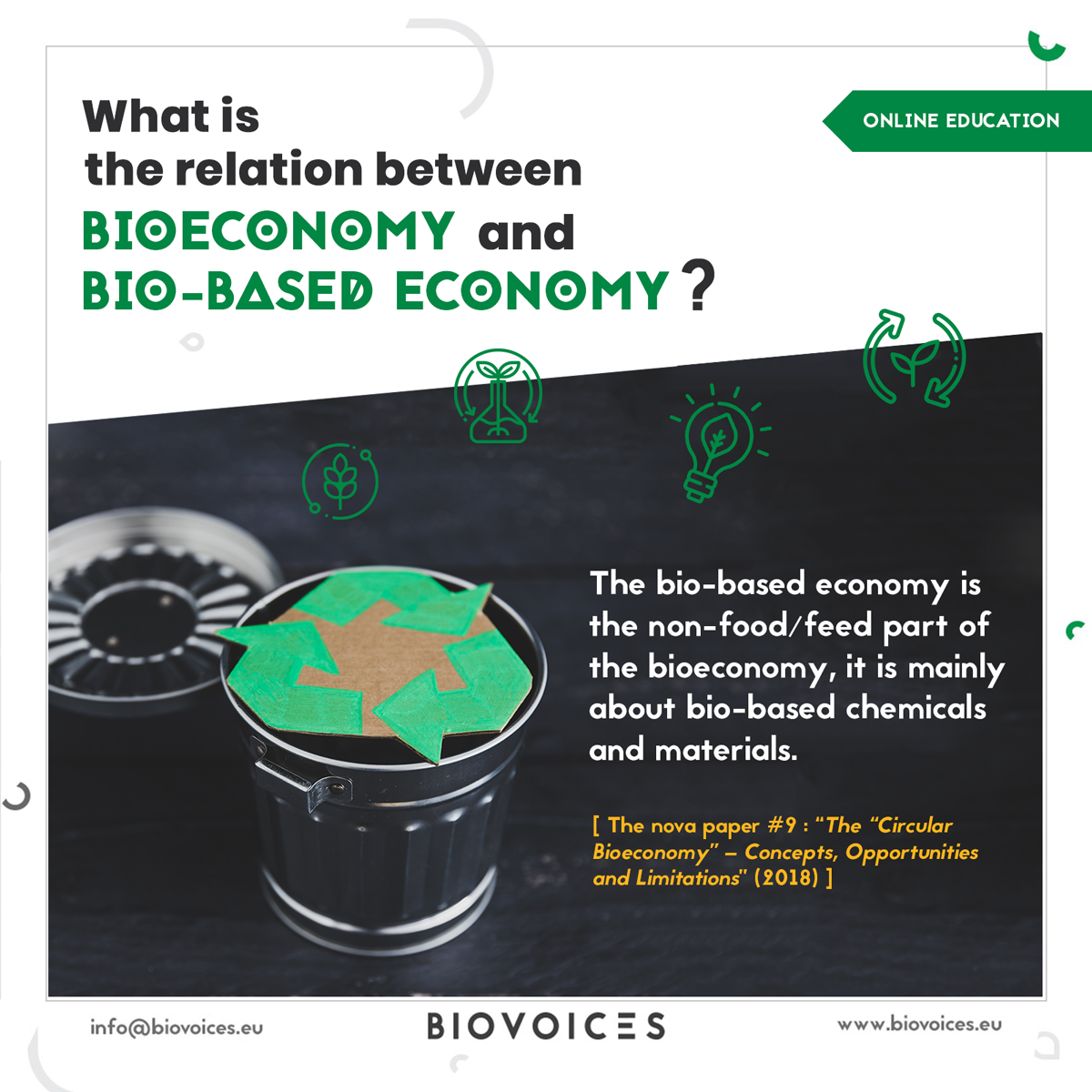 What is the relation between bioeconomy and bio-based economy?