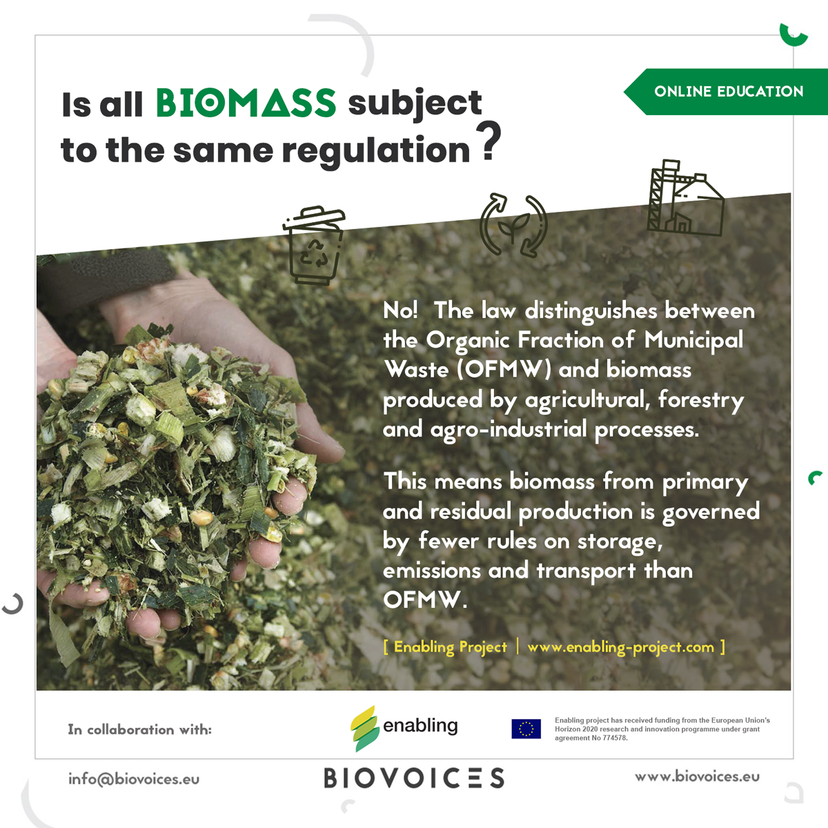 Is all biomass subject to the same regulation?